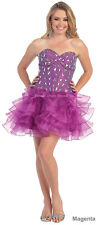 CUTE FLIRTY SHORT BIRTHDAY PARTY STRAPLESS LACE UP SEMI FORMAL DRESS UNDER $100