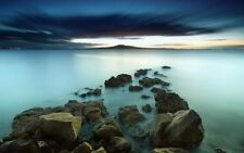 High Detailed Image Of Rocks In Sea LSP033 Art Print A4 A3 A2 A1