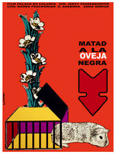 Matad a la oveja negra vintage movie POSTER.Graphic Design. WAll Art Decor.3468