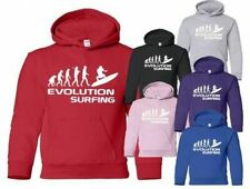 Evolution Of Surfing Sport Boys Girls Kids Hoodie Gift Age 5-13