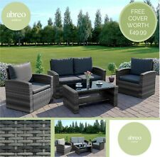 New Rattan Wicker Weave Garden Furniture Patio Conservatory Sofa Set+FREE COVER