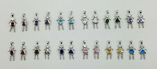 Birthstone Baby Pendant Charm  ALL MONTHS Available Boy, Girl, and Spacers
