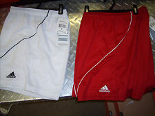 "ADIDAS STRIKER WOMENS Climalite SOCCER SHORTS 5"" INSEAM  CHECK VARIATIONS"