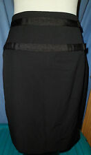 BRAND NEW EX OASIS BLACK MINI SKIRT WITH SMALL BOW DETAIL - IN SIZES 6 -16