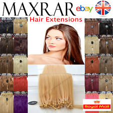 "25 micro boucle 100% remy human hair extensions 18 ""easy lock ring 0,5 gramme U"