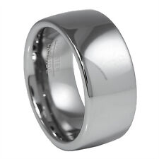 9MM Dome Polished Natural Tungsten Carbide Wedding Band Ring