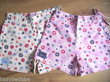 Joules cotton flower print shorts pink or yellow 8 10 12 14 NEW