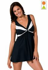 5865     PLUS SIZE 1 Pc Black/White Swimsuit Assorted Sizes Available
