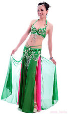 New High Quality Professional Belly Dance Costume 2 Pics Bra&Belt 40B/C 13 color