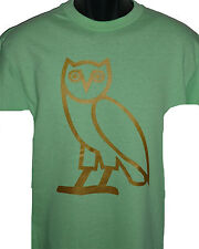 OVO Drake October's very own T shirt GOLD OVOXO logo YMCMB tee S-XL LIME GREEN