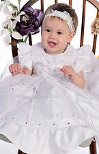 LITTLE GIRLS BAPTISM WHITE FORMAL DRESS CHRISTENING GOWNS OUR LADY OF GUADALUPE