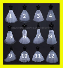 WHITE OR BLACK BRIDAL WEDDING DRESS /PROM PETTICOAT/UNDERSKIRT/CRINOLINE,S-XL