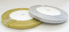 22 Mtrs Metallic Organza Ribbon - 6mm - Choose Colour