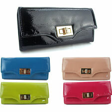 GIFT BOXED Womens Designer Patent Wallets Clutch Purses Ladies Evening Bag BNWT