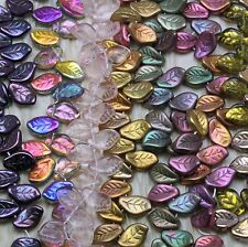 PICK YOUR COLOR** 25pcs 14X9mm FANCY WAVY  LEAVES BEADS - RARE FIND