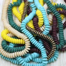 Pick Your Color * 100pcs 7mm RONDELLE/SPACERS CZECH GLASS BEADS - FANTASTIC!!!