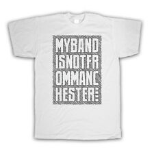 MY BAND IS NOT FROM MANCHESTER FASHION IRONIC SLOGAN KIDS T SHIRT ALL SIZE & COL