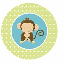 Monkey Jungle Safari Edible Cupcake Toppers Decoration