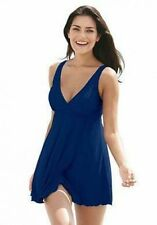 7293    PLUS SIZE 1 Pc Blue Swimsuit Assorted Sizes Available