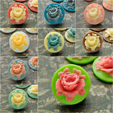 18X18MM Resin flower Cabochon flatback cameo wholesale FOR ring vintage 9 colors