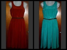 *BNWT* GORGEOUS ATMOSPHERE LADIES DRESS WITH BELT - TAN OR AQUA