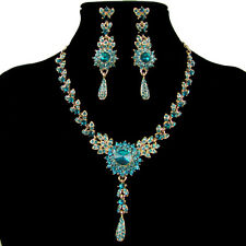 Hot Fashion Crystal Lady Earring Necklace Jewelry Set for Wedding Bridal party