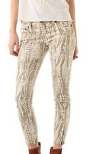 FREE PEOPLE FEATHER PRINT ANKLE CROP PANT CREAM COMBO NWT