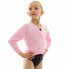 Girls RAD ISTD Ballet Dance Knitted Crossover Cardigan Wrap Over Long Sleeve XLS