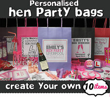 HEN NIGHT PERSONALISED PARTY GIFT BAG  *FILLED* - CREATE YOUR OWN 10 ITEM FILL