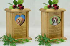 Rainbow Bridge Photo Pet Urn - Wood Dog Urns & Cat Urns
