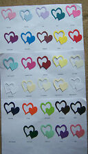 PACK OF 12 - DOUBLE HEARTS - SIZZIX DIE CUT - FOR WEDDING INVITATIONS AND CRAFTS