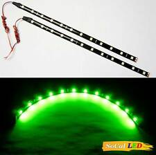 """2x 30cm/11.6"""" Flexible LED SMD Strips 5050 High Power Chips Bright Lights NEW"""