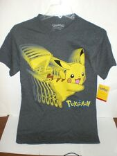 ADULT POKEMON PIKACHU CHARCOAL GREY T-SHIRT LICENSED *SEE VARIATIONS FOR SIZES*