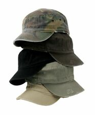 NEW UNISEX DISTRESSED MILITARY FIDEL CADET ARMY HAT CAP 100% COTTON TWILL