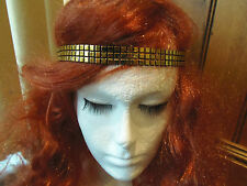ART DECO STYLE FLAPPERS HEADBAND FOREHEAD BAND WEDDING PROM  SILVER GOLD