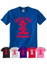 Santa's Little Helper Christmas Present Gift Boys Girls T-Shirt Age 1-13