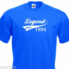 LEGEND SINCE 1994, FUNNY MENS TSHIRT 21th BIRTHDAY PRESENT 7 COLOURS 6 SIZES