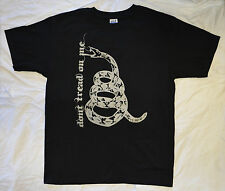 Don't Tread on Me BIG SNAKE Black T Shirt All Sizes S - 4XL Tea Party Metallica