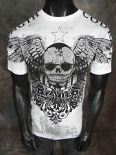 NWT! Mens XZAVIER GRAPHIC T Shirt STRENGTH & COURAGE in White