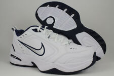 NIKE AIR MONARCH IV 4 EXTRA WIDE 4E EEEE WHITE/SILVER/NAVY BLUE TRAINER MEN SIZE