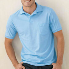 HANES Mens Polo Sport Shirt With Pocket Comfortblend Golf S M L XL NEW!