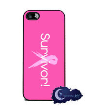 Survivor Pink Ribbon - iPhone 5 Slim Case, Cell Cover - Breast Cancer Awareness