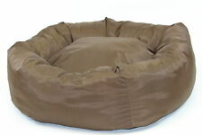 """Dog Bed, Donut Bed,Brown, Heavy Duty  ,38"""" Diameter, Extra Large"""