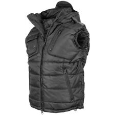 HOODED BODY WARMER WINTER GILET MENS VEST HIKING CAMPING OUTDOOR SECURITY BLACK