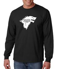 WINTER IS COMING Game Of Thrones House Stark HBO TV Pimp Long Sleeve Tee Shirt