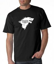 WINTER IS COMING Game Of Thrones House Stark HBO TV Pimp Wolf Funny Tee T-Shirt