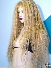 Remi Remy Full Lace Wig Human Hair Blonde Mix Wavy Deep Wave Long