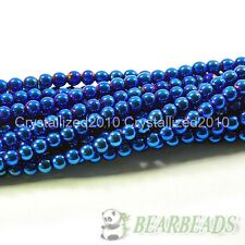 100pcs Natural Blue Hematite Gemstone Round Ball Spacer Beads 4mm 6mm 8mm 10mm