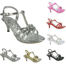 GIRLS PARTY SANDALS  BLACK SILVER GOLD DIAMANTE DETAIL HEEL PLATFORM SIZE 11 - 3