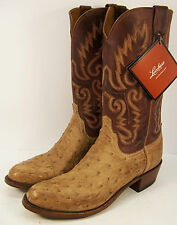 Lucchese Mens Cowboy Boot Ostrich Skin N1061.R4 Made in USA New in Box